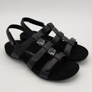New! Vionic Amber Sandals Leather Black Sz US 11